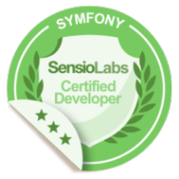 Symfony certified developer