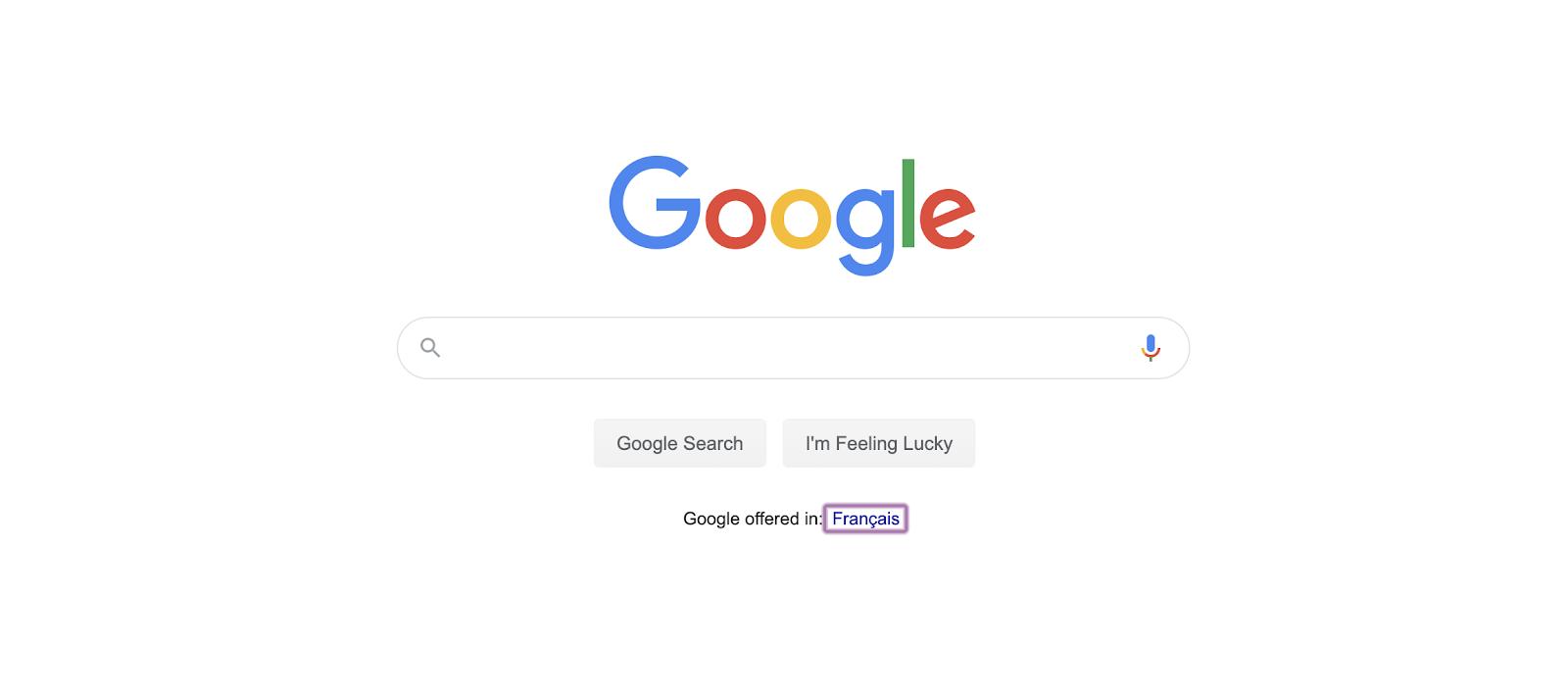 Focus par défaut d'un lien sur Google